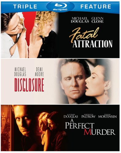 Michael Douglas Triple Feature (Fatal Attraction / Disclosure / A Perfect Murder) [Blu-ray]