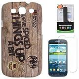 DMG Night Glow Hard Back Cover Case For Samsung Galaxy S3 Neo GT-I9300I (Bacardi) + 2600 MAh PowerBank + Matte...