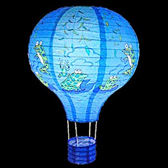 Frogs Balloon Light Blue Paper Lantern Bedroom Fun Lampshade L