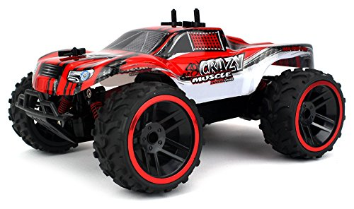 Buggy Crazy Muscle Remote Control RC Truck Truggy 2.4 GHz PRO System 1:16 Scale Size RTR w/ Working Suspension, Spring Shock Absorbers (Colors May Vary) - 51OAhSyYf 2BL - Buggy Crazy Muscle Remote Control RC Truck Truggy 2.4 GHz PRO System 1:16 Scale Size RTR w/ Working Suspension, Spring Shock Absorbers (Colors May Vary)