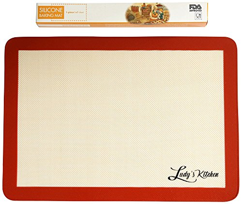 Ludy's Kitchen Silicone Baking Mat - Professional Grade Baking Sheet Liner - Replaces Parchment Paper - Great Gift Ideas - Non-Stick, Durable, & Reusable Silicone Mat (Teflon Baking Paper compare prices)