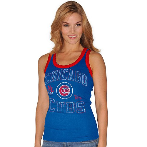 Chicago Cubs MLB Women's Split Finger Tank Top by G-III (Medium) at Amazon.com