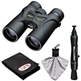 Nikon Prostaff 3S 10x42 Waterproof/Fogproof Binoculars with Case + Cleaning & Accessory Kit
