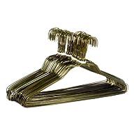 BriaUSA 50 Standard Hangers 18″ 14.5 Gauge Gold Wire Hangers Clothes Hangers