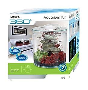 Marina 360 Aquarium, 10 Litre, 25.5 cm Diameter