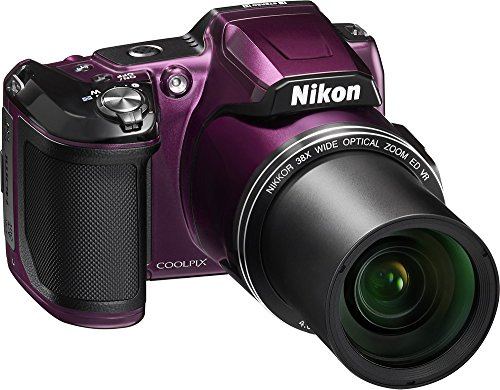 Details for Nikon COOLPIX L840 16.0-Megapixel Digital Camera with 76x dynamic fine zoom, 38X optical zoom VR lens (4.0-152mm) and built-in WiFi - Plum (Certified Refurbished)
