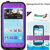 Samsung Galaxy S4 Waterproof Lifeproof Dirtproof Snowproof Shockproof Case for Samsung Galaxy S4 (Purple)