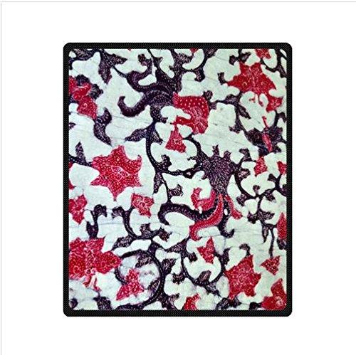 Unique Batik Floral Fabric Design Custom Fleece Blanket 50 X 60 (Medium)