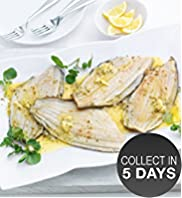 4 Lemon Sole Fillets with Lemon & Sea Salt Butter