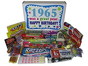 1965 50th Birthday Gift Basket Box Retro Nostalgic Candy From Childhood