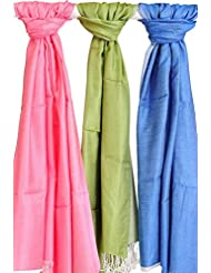 Famacart Women's Ethnicwear Combo Pack Of 3 Art Silk Dupattas