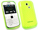 FLASH SUPERSTORE SAMSUNG CH@T 335 ( S3350 ) HEXAGON PATTERN GEL SKIN COVER/CASE GREEN