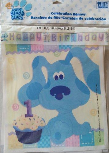 Blue's Clues 1st Birthday Celebration Banner - 1