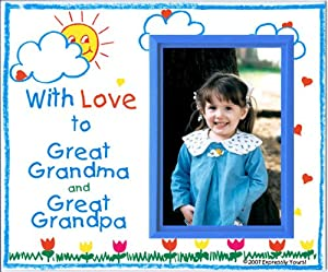 With Love To Great Grandma Great Grandpa Picture Frame Gift from Expressly Yours!