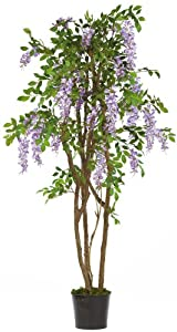 Nearly Natural 5015-PP Wisteria Silk Tree, 5-Feet, Purple