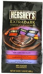 Hershey\'s Extra Dark Chocolate Assortment,  24 Ounce