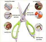 HOKIPO Multipurpose Detachable Kitchen Scissor with Magnetic Holder Cover Random Colors)