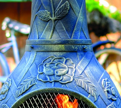 The-Blue-Rooster-Rose-Chiminea-in-Gold-Accent