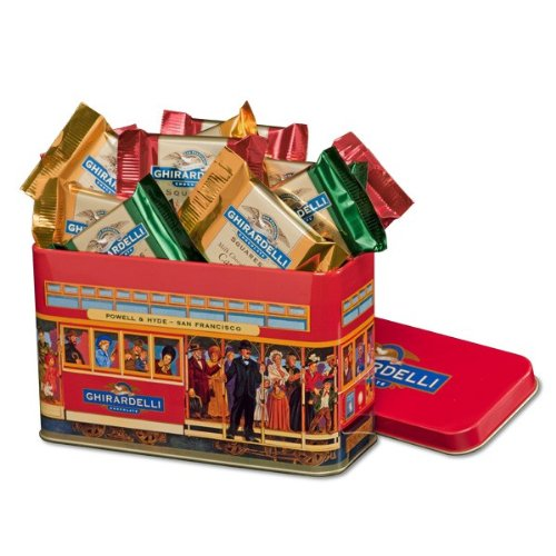 Ghirardelli Chocolate Cable Car Gift Tin  Squares