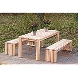binnen-Markt Gartenmöbel Set 3 Heimisches Holz Douglasie Natur