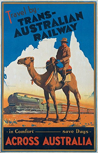 Trans - Australian Railway Vintage Poster (artist: Northfield) Australia (9x12 Collectible Art Print, Wall Decor Travel Poster)