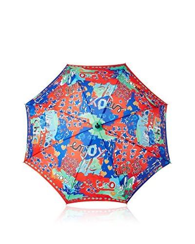 Moschino Cheap & Chic Paraguas Rojo / Multicolor