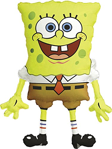 Anagram International M6398901 SpongeBob Square Pants Shape Balloon Pack, 28""