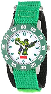 Marvel Comics Kids' W000126 Hulk Stainless Steel Time Teacher Watch