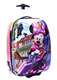 Disney Minnie Mouse Large Pilot Case Rolling Luggage Travel Backpack Hard Shell