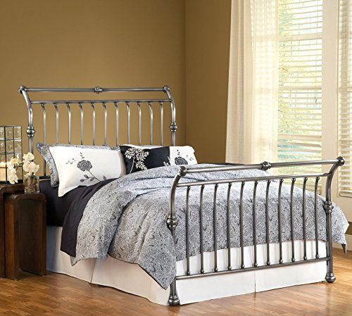 Hillsdale Furniture- -Queen Markam Bed Frame - Ant.Nickel front-978640