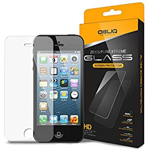iPhone 5S Screen Protector, Obliq [Tempered Glass Protection] iPhone 5S 5C 5 Screen Protector [0.33T][Zeiss Pure Glass] - Premium Japanese Glass Film - Verizon, AT&T, T-Mobile, Sprint, International, and Unlocked - Screen Protector for Apple iPhone 5S 5 5C Lite 2013 Model