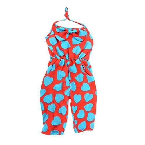 Urparcel Toddler Girl Kids Jumpsuit Short Summer Playsuit Rompers One-Piece 2-8Y (2-3Year, Dark Blue)