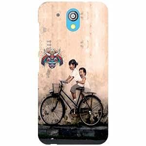 HTC Desire 526G Plus Back cover - Bicycle Ride Designer cases