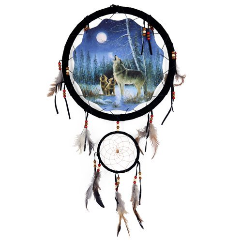Quality Dream Catcher 13 Inch/ Wolves