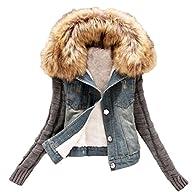 VIISHOW Winter Women Jeans Coat Fleec…