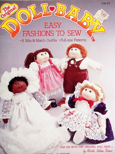 OOP the Original Doll Baby,similar to Cabbage Patch, Clothes. 8 Mix-&-match Outfits. Designs By Martha Nelson Thomas