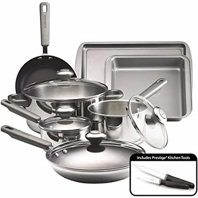 Complements Stainless Steel and Nonstick 13-piece Cookware Set Includes Cookware, Bakeware and 2 Knives