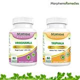 Garcinia Cambogia (HCA >60%) + Triphala - Weight Loss Supplement - 500mg Extract - 60 Veg Capsules