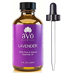 PURE LAVENDER OIL ★ BIG 4 OZ ★ - 100% Natural Premium Essential Oil - For Anxiety and Stress Relief, Headaches and Migraines, Fibromyalgia, Massage and Aromatherapy, Natural Insect and Mosquito Repellent - Therapeutic Grade - No Synthetics, Chemicals, or Additives, but Rather Premium, Undiluted Pure Lavender Oil with Many Health Benefits - Glass Dropper Included - 100% Satisfaction or Money Back Guarantee!