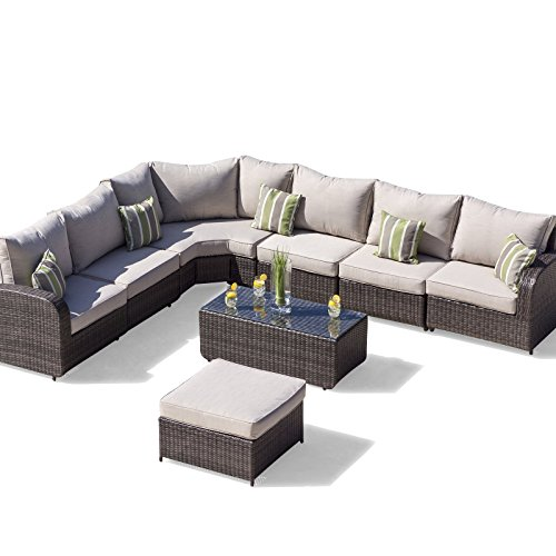 Simple Rattan Outdoor Sofa Set Weave Modular Sofa Set Outdoor Garden Furniture Conservatory Patio Furniture Ledbury
