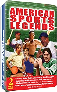 American Sports Legends - 2 DVD embossed tin