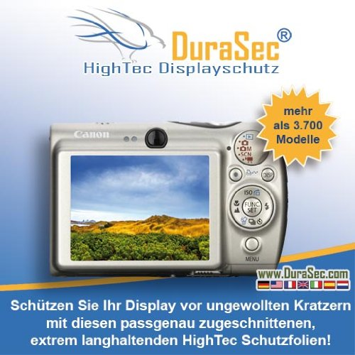 DuraSec HighTec Displayschutz für Canon PowerShot SX220 HS