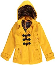 YMI Little Girls39  Hooded Toggle Wool Coat with Side Pocket