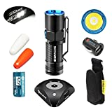 Bundle: Olight S10R II 500 Lumens Rechargeable Variable Output Side Switch LED Flashlight With Olight Rcr123a Battery and Olight Traffic Wands and Car Charger With SkyBen Hoster