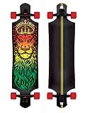 "Santa Cruz Lion God Rasta Drop Thru Cruzer Freeride Longboard Deck Complete 40"""