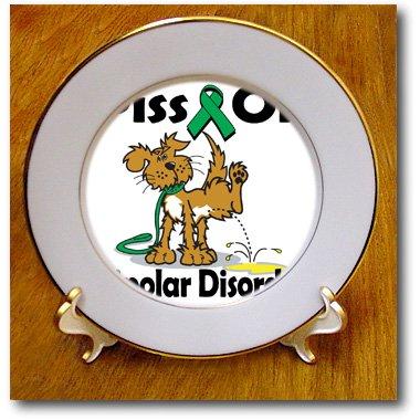 Cp_115792_1 Dooni Designs Cause Awareness Ribbon Designs - Piss On Bipolar Disorder Awareness Ribbon Cause Design - Plates - 8 Inch Porcelain Plate