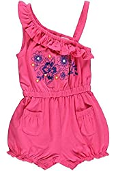GUESS Newborn Baby Girl's Floral Romper, PINK (0/3M)