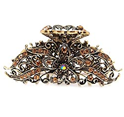 New Browns Crystal Bronze Metal Alloy Flower / Water Drop Hair Claws Clips Pins