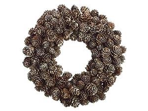 Silk Plants Direct Winter Mini Pine Cone Wreath (Pack of 2)