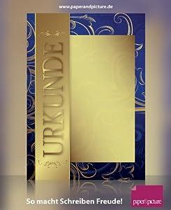 """""""GOLD"""", 10 Blatt Urkunden Motivpapier, 190g/qm"""